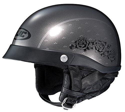 HJC Helmets Unisex-Adult Half-Size-Helmet-Style CL-Ironroad MC-5 Motorcycle Helmet GreyBlack Medium