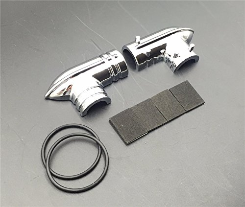 XKH Motorcycle Chrome Fuel Line Fitting Cover For Harley Davidson Fuel Injected Electra Glides Road Glides Road Kings Street Glides Trikes Softail Dynas Sportsters