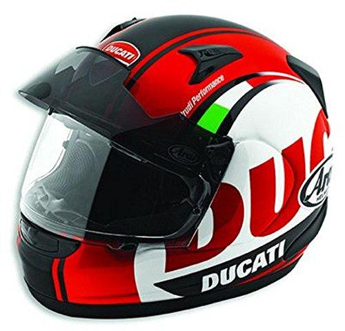 Ducati Arai Type Pro Full Face Motorcycle Helmet Red Medium