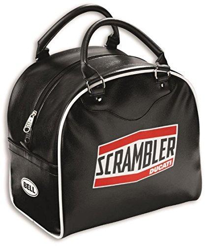 Ducati Scrambler Short Track Helmet Bag Black Leather 981029519