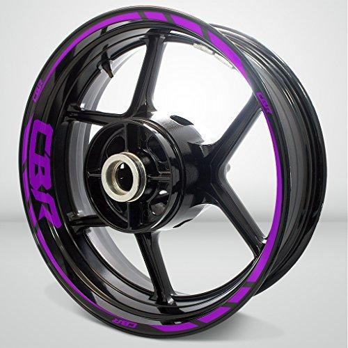 Honda CBR Matte Purple Motorcycle Rim Wheel Decal Accessory Sticker