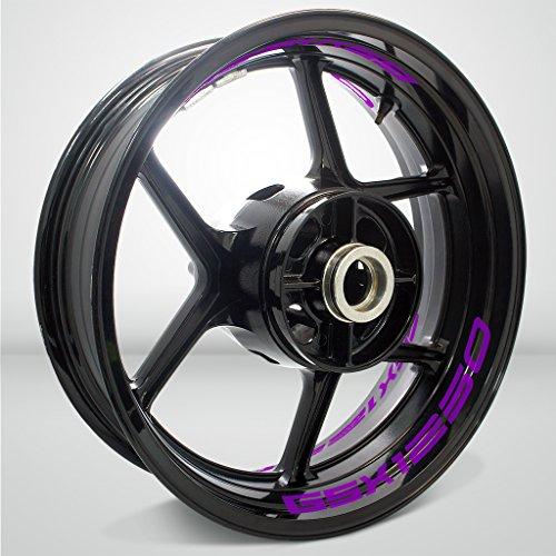 Matte Purple Motorcycle Inner Rim Tape Sticker Decal for Suzuki GSX 1250 FA Bandit