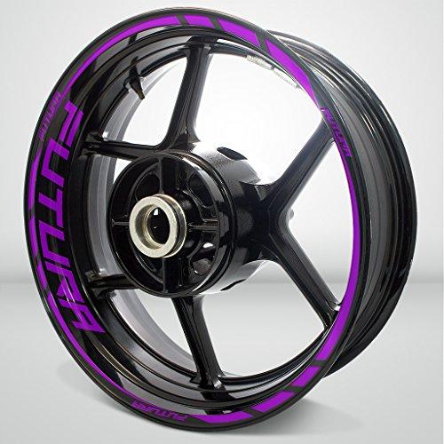 Matte Purple Motorcycle Rim Wheel Decal Accessory Sticker for Aprilia Futura 1000