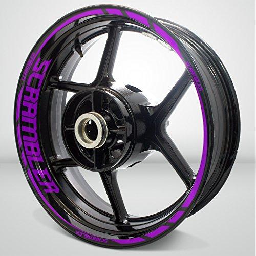 Matte Purple Motorcycle Rim Wheel Decal Accessory Sticker for Ducati Scrambler