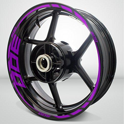 Matte Purple Motorcycle Rim Wheel Decal Accessory Sticker for Kawasaki Ninja 300
