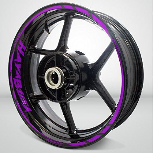 Suzuki Hayabusa Matte Purple Motorcycle Rim Wheel Decal Accessory Sticker