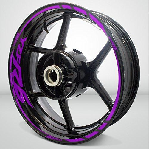 Yamaha YZF R6 Matte Purple Motorcycle Rim Wheel Decal Accessory Sticker