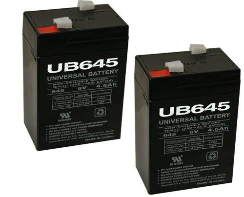 Universal Ub645-upg Ub645 / D5733 Sealed Lead Acid Battery 6v / 4.5 Ah - 2 Pack