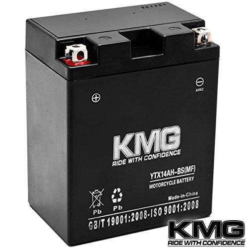 Kmg® Kawasaki 400 Kaf400 Mule 600 610 2005-2012 Ytx14ah-bs Sealed Maintenace Free Battery High Performance 12v