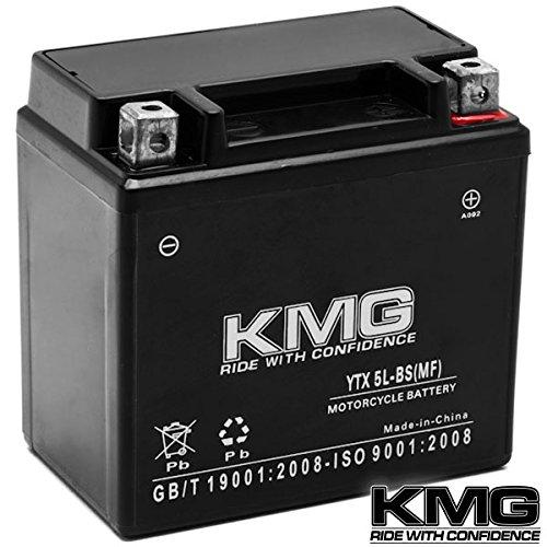 Kmg® Yamaha 50 Yw50a Zuma 2002-2012 Ytx5l-bs Sealed Maintenace Free Battery High Performance 12v Smf Oem Replacement