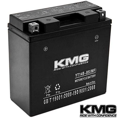 Kmg® Yt14b-bs Battery For Yamaha 1100 Xvs1100 V-star (all) 1999-2010 Sealed Maintenace Free 12v Battery High Performance