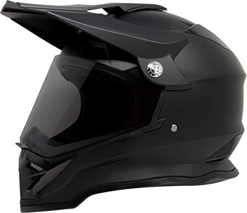 GDM DK-650 Dual Sport Offroad Dirt Bike MX Motocross Helmet with Clear Tinted Visors - Matte Black XL