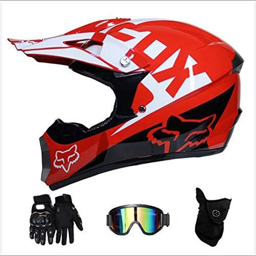 Meitaixuegu Motocross Motorbike Motorcycle Helmets Gloves Goggles DOT Certification Children Quad Bike ATV Go Karting Helmet Color  L