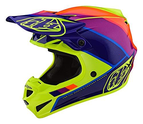 Troy Lee Designs Adult Offroad Motocross Beta Polyacrylite SE4 Helmet Small YellowPurple