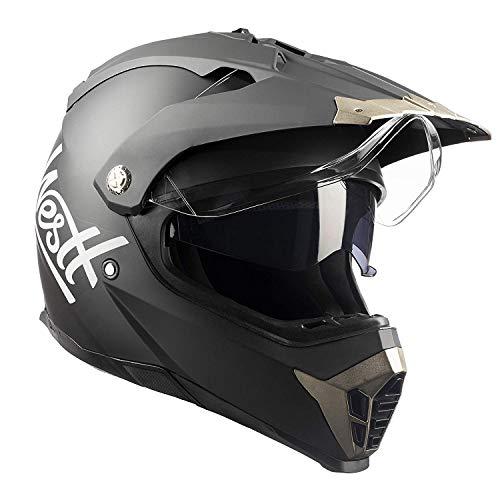Westt Dirt Bike ATV Motocross DOT Motorcycle Helmet Dual Visor Off Road Full Face