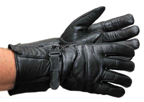 Vance Leather Vl400 Leather Motorcycle Gauntlet Gloves Large