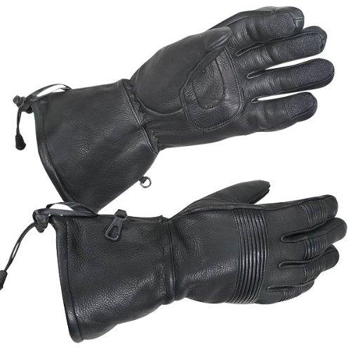 Xelement Xg-856 Deerskin Insulated Padded Motorcycle Gauntlet Gloves With Visor