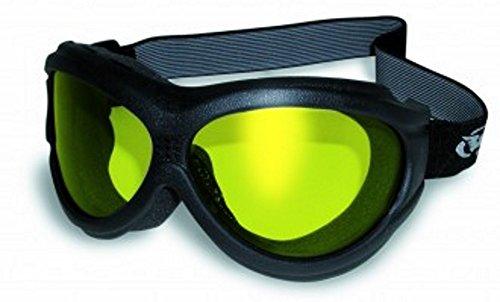Big Ben Yellow Goggles Motorcycle Biker Over Glasses Anti-fog Lenses