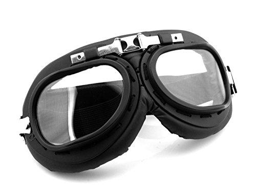 Black Motorcycle Parts 1pcs Clear Lens Helmet Sunglasses Mens Biker Riding Goggles Glasses Fit For 1988 1989 1990