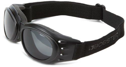 Bobster Cruiser 2 Interchangeable Harley Cruiser Motorcycle Goggles Eyewear - Black/clear/smoke/amber