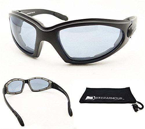 Motorcycle Biker Riding Sun Glasses Goggles Blue Lens
