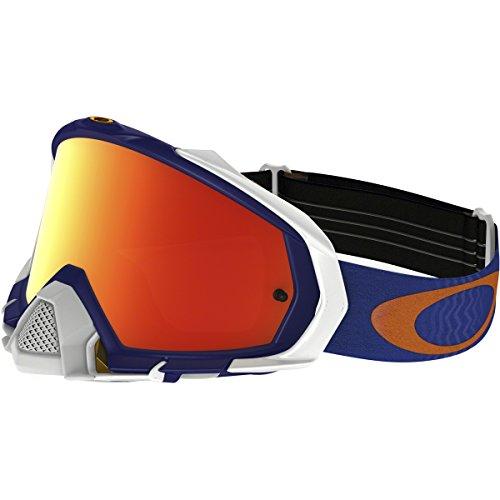 Oakley Mayhem Pro MX Shockwave Mens Dirt Motocross Motorcycle Goggles Eyewear - Blue OrangeFire IridiumOne Size Fits All