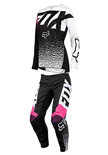 Fox Racing 2018 Womens 180 Combo Jersey Pants BlackPink MX ATV Offroad Dirtbike Motocross Riding Gear BlackPink