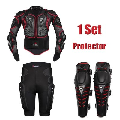 HEROBIKER MC1011 Red Motorcycle Body Armor Motocross Armour Motorcycle Jackets Gears Short Pantsprotective Motocycle Knee Pad