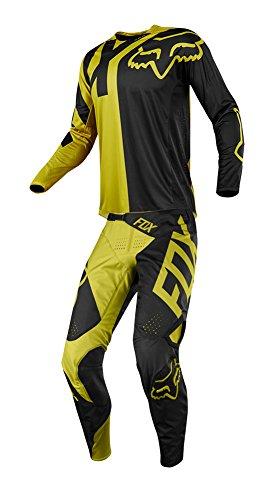 Fox Racing 2018 360 Preme Combo Jersey Pants Adult Mens MX ATV Offroad Dirtbike Motocross Riding Gear Dark Yellow