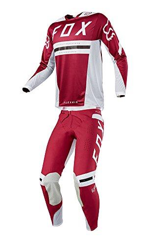 Fox Racing 2018 Flexair Preest Combo Jersey Pants Mens ATV UTV Offroad Dirtbike Motocross Riding Gear Dark Red