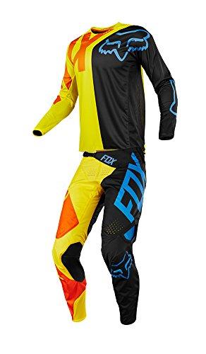 Fox Racing 2018 Youth 360 Preme Combo Jersey Pants ATV MX Offroad Dirtbike Motocross Riding Gear BlackYellow