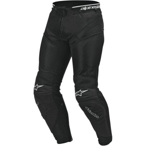 Alpinestars A-10 Air Flo Men's Textile Street Racing Motorcycle Pants - Black / Size 60