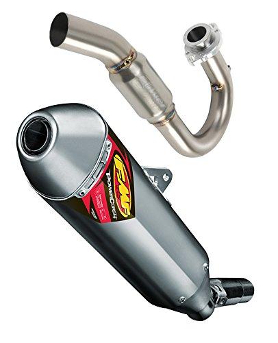 FMF Exhaust System - Stainless Steel PowerBomb Header PowerCore 4 Hex Muffler - Yamaha WR450F - 20012-2015