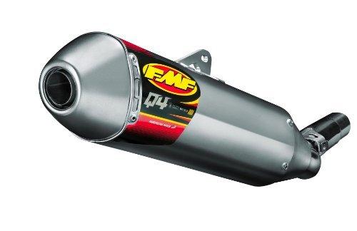 FMF Racing Q4 Spark Arrestor Slip-On - Hexagonal Muffler - Stainless Midpipe Material Stainless Steel 044426