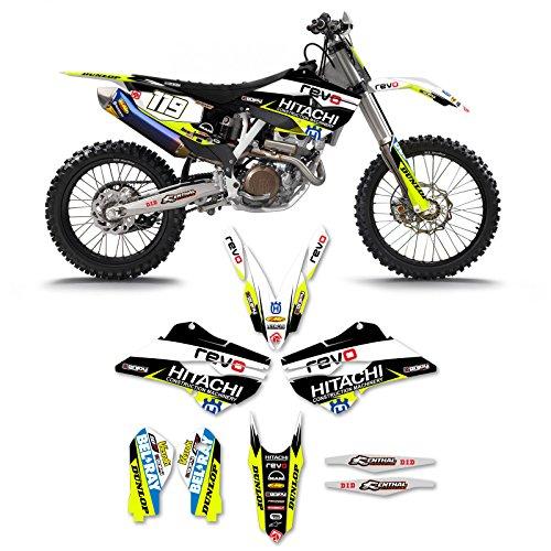 2014-15 Husqvarna 125-450 Team Revo Hitachi Motocross Graphics Motocross Kit