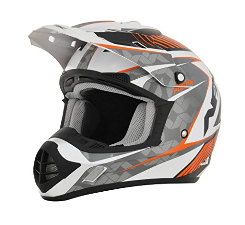 AFX FX-17 Factor Mens Motocross Helmets - WhiteOrange - X-Small