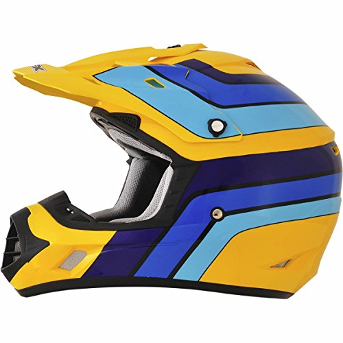 AFX FX-17 Vintage Suzuki Factor Mens Motocross Helmets - Medium