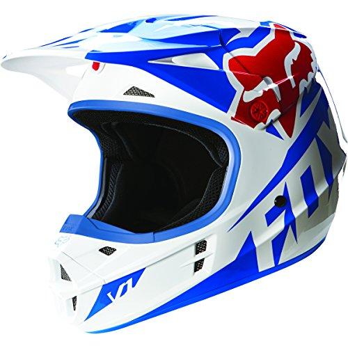 Fox Racing 2016 Race Mens V1 Motocross Motorcycle Helmet - Blue  2X-Large
