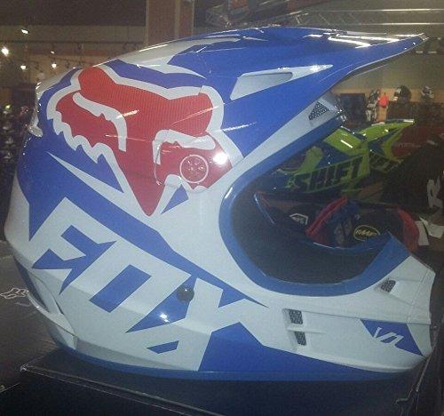 Fox Racing 2016 V1 Helmet - Race SMALL BLUE