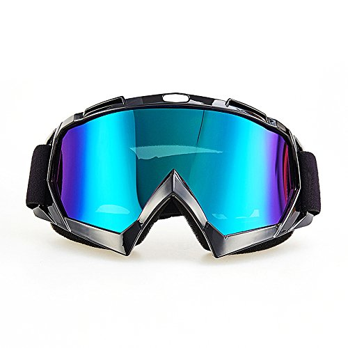 Motorcycle Goggles CarBoss Anti UV Safety Eye Protection Anti-Scratch Dustproof Motocross Motorbike Goggle Great Idea for Snow Skiing Cycling Climbing Riding Outdoor Sports Eyewear Colorful Lens