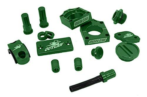 Outlaw Racing Complete Billet MX Motocross Kit Green KX125 KX250
