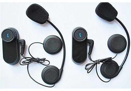 Elife Weatherproof 800m GPS Bike-to-bike Bluetooth Motorcycle Intercom for Helmet Headset kit with Streaming Wireless Music A2DP - Pack of 2