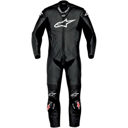 Alpinestars Sp-1 Men's 1-piece Leather Street Racing Motorcycle Race Suits - Black / Size 48