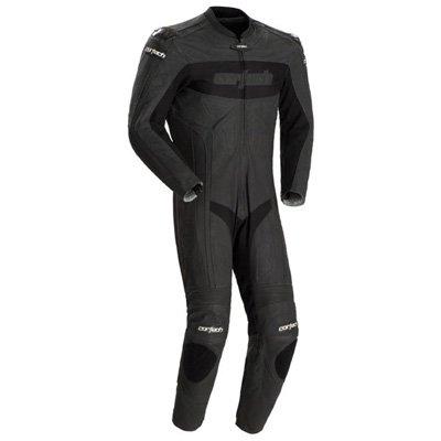 Cortech Latigo Rr Men's 1-piece Leather Street Racing Motorcycle Race Suit - Flat Black / Medium