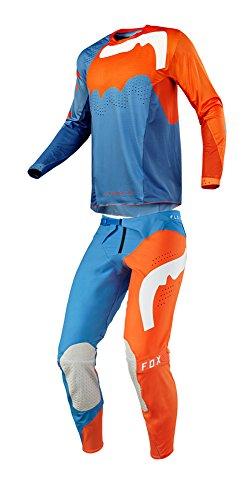 Fox Racing 2018 Flexair Hifeye Combo Jersey Pants Mens ATV MX Offroad Dirtbike Motocross Riding Gear Orange
