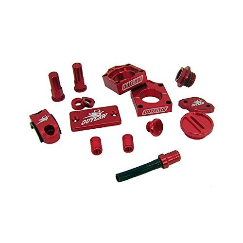Outlaw Racing KIT26R Complete Billet MX Motocross Kit Red Honda CRF250 10-16