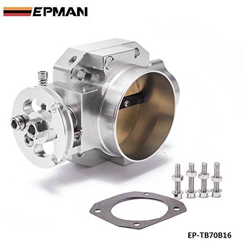 EPMAN Aluminum Intake Manifold 70mm Throttle Body For Honda B16 B18 D16 F22 B20 DBHF EG EK H22 Silver