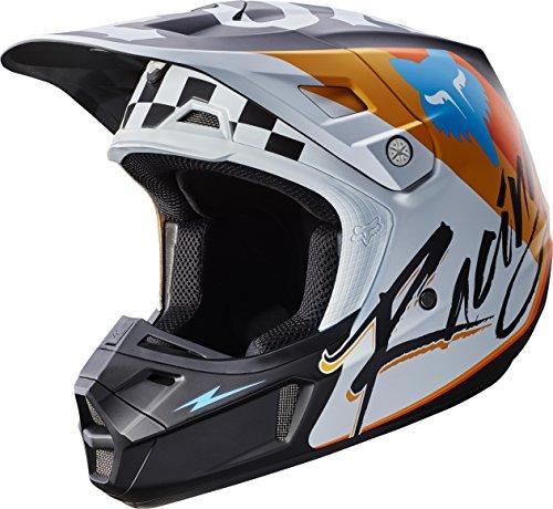 Fox Racing Rohr Adult V2 Motocross Motorcycle Helmets - White  X-Small