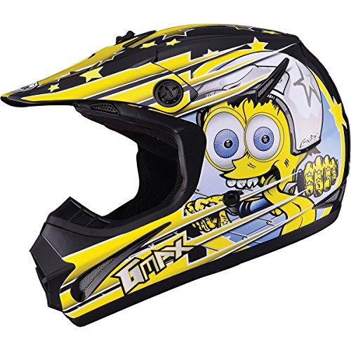 GMAX GM462 Superstar Youth Boys Motocross Motorcycle Helmet - BlackYellowLarge