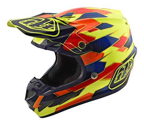 Troy Lee Designs Composite Maze Adult SE4 Motocross Motorcycle Helmet - YellowBlueSmall